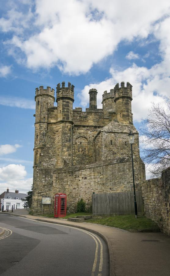 Slag Abbey Gatehouse, Sussex, het UK stock afbeelding