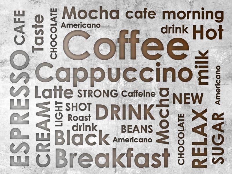 Slag av coffe royaltyfri illustrationer
