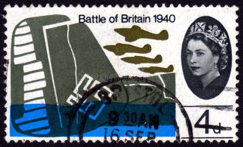 Slag de postzegel van van Groot-Brittannië, het UK stock foto's