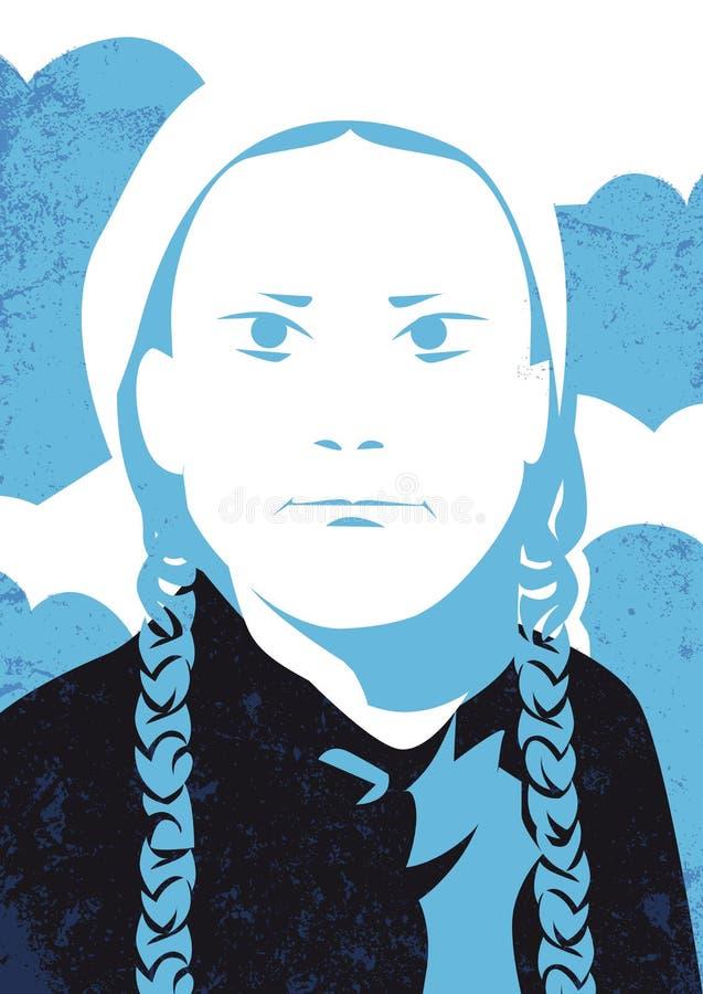 Slag för skola för Greta Thunberg klimataktivist på fredagar