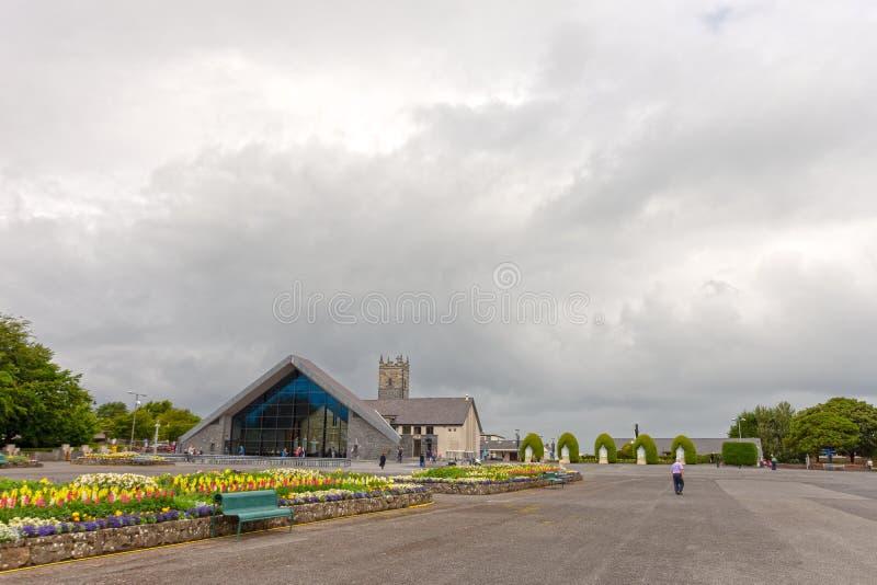 Slag, Mayo, Ierland Ierland ` s Nationaal die Marian Shrine in Co Mayo, door meer dan 1 wordt bezocht 5 miljoen mensen elk jaar S stock afbeelding
