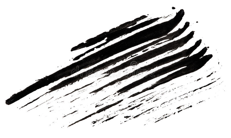 Slag (steekproef) van zwarte mascara stock illustratie
