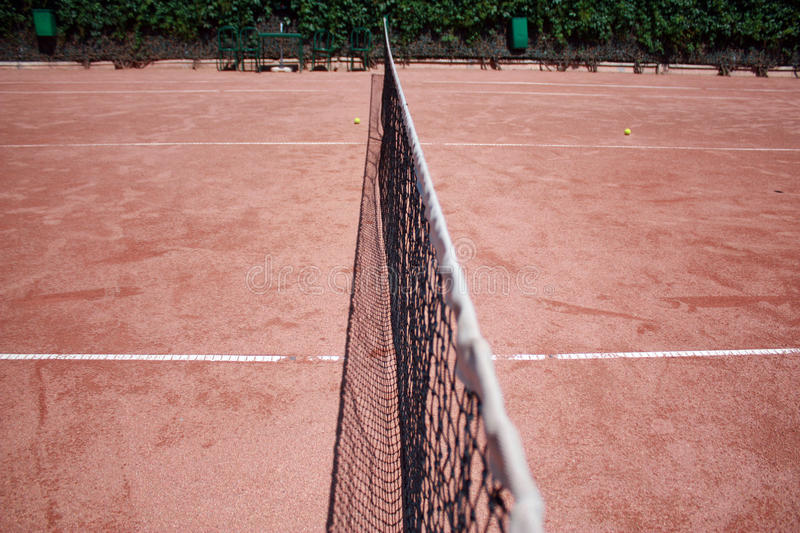 tennis field stock photography