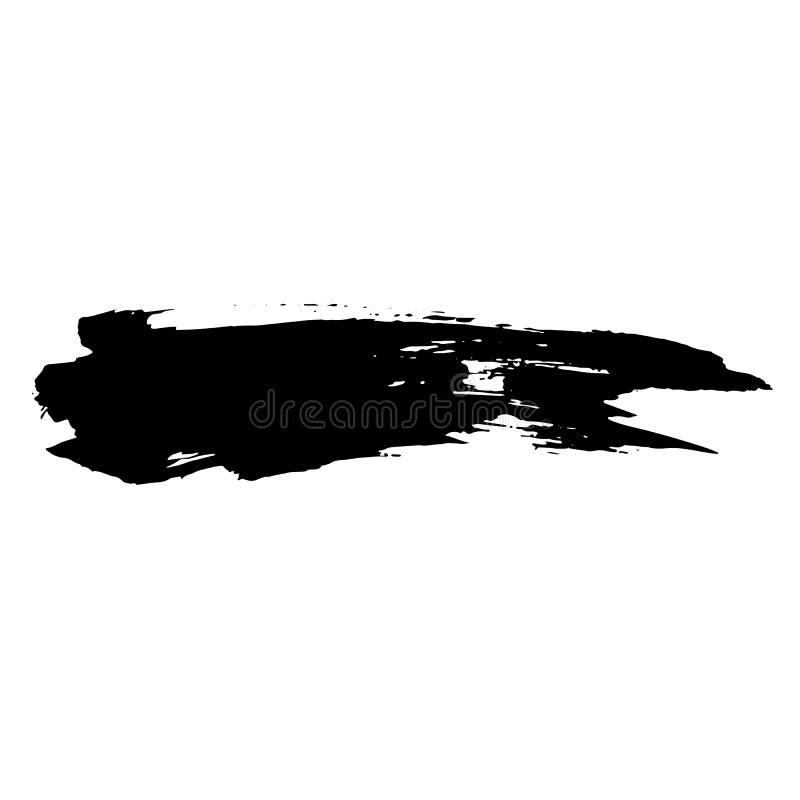 Slag van de inkt de vectorborstel Vector illustratie Textuur van de Grunge de hand getrokken waterverf stock illustratie