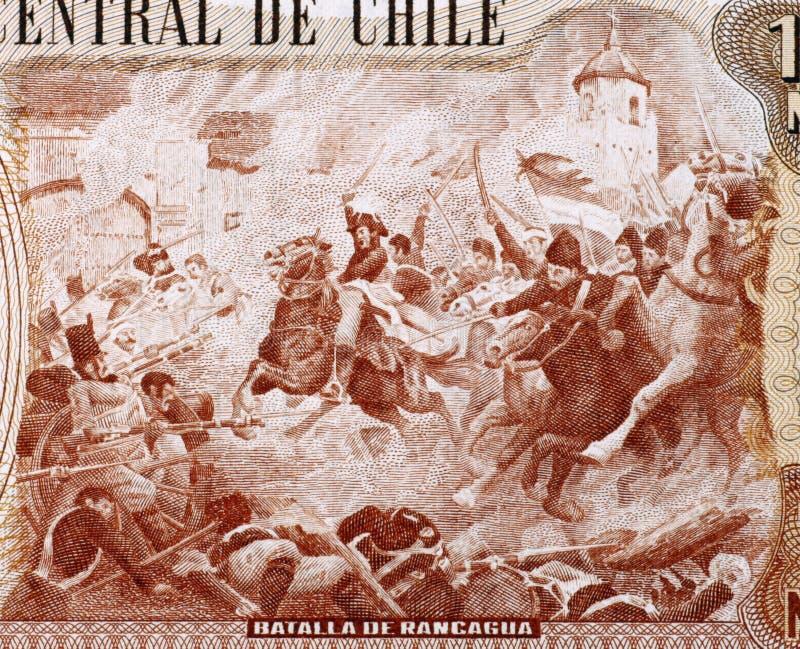 Slag van Rancagua stock fotografie