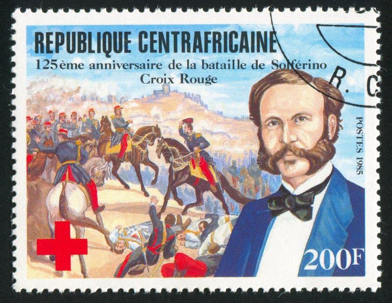 Slag van Solferino de Centraalafrikaanse Republiek stock afbeelding