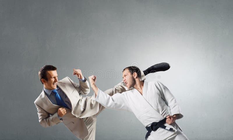 Slag van tegenstanders stock afbeelding