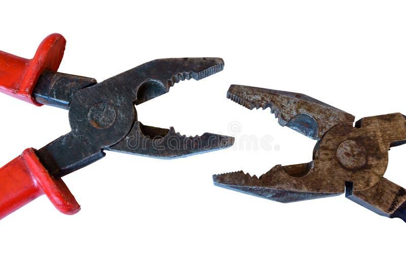 Slag van toothy monsters stock foto's