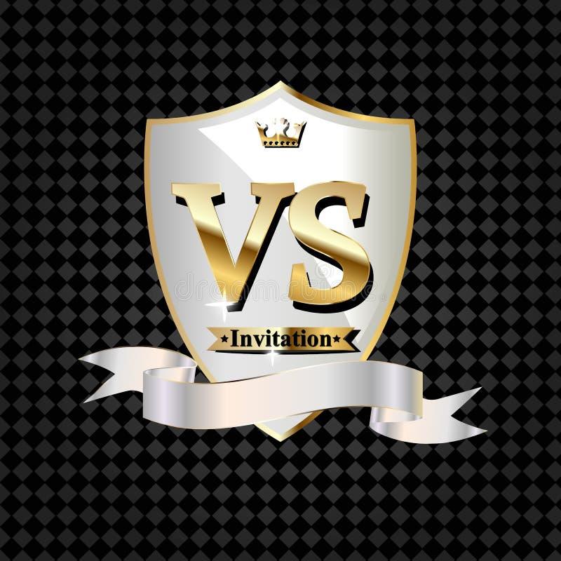 Slag versus gelijke, spelconcept concurrerend versus royalty-vrije illustratie