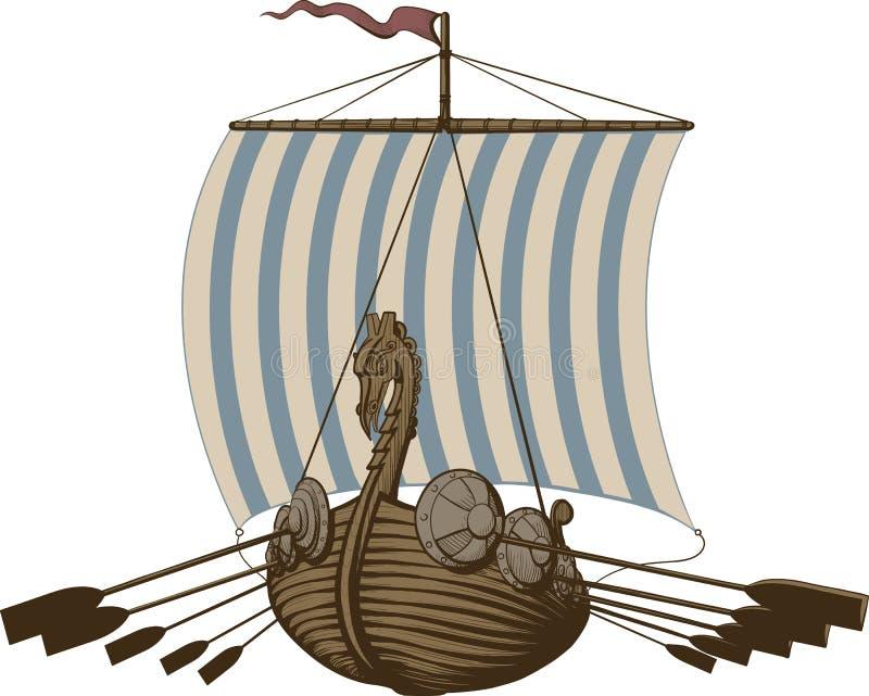 Slag Viking Ship royalty-vrije illustratie