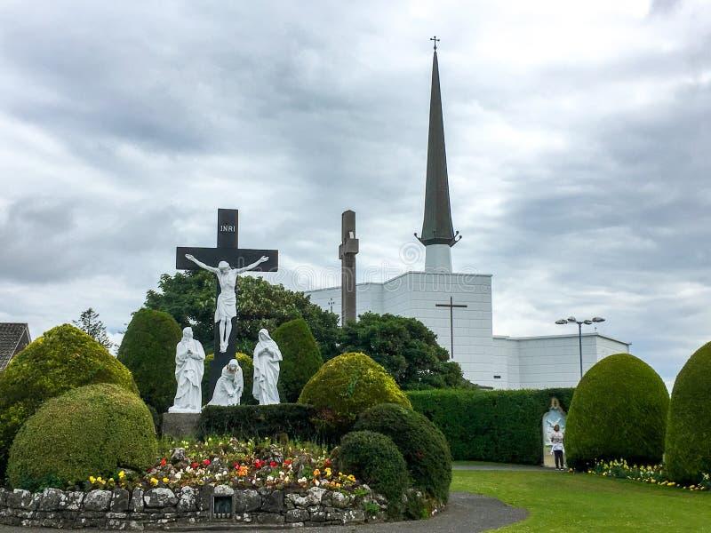Slagbasiliek, Mayo, Ierland stock afbeelding