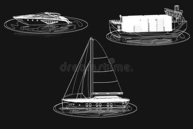 Slagboten stock illustratie