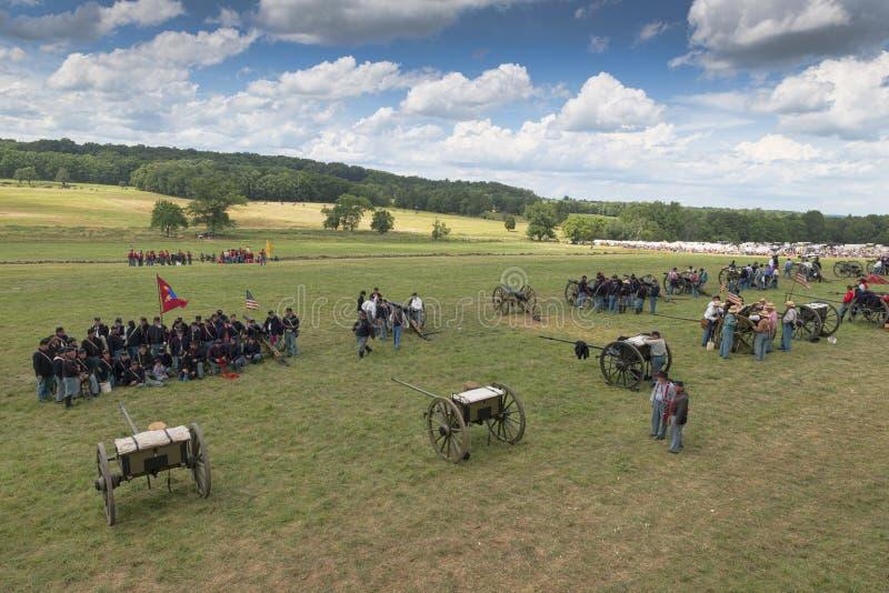 Slagfält på Gettysburg royaltyfri bild