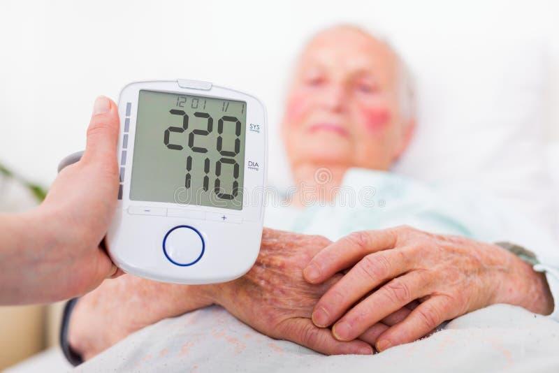 Slaggevaar - hoge bloeddruk royalty-vrije stock foto's
