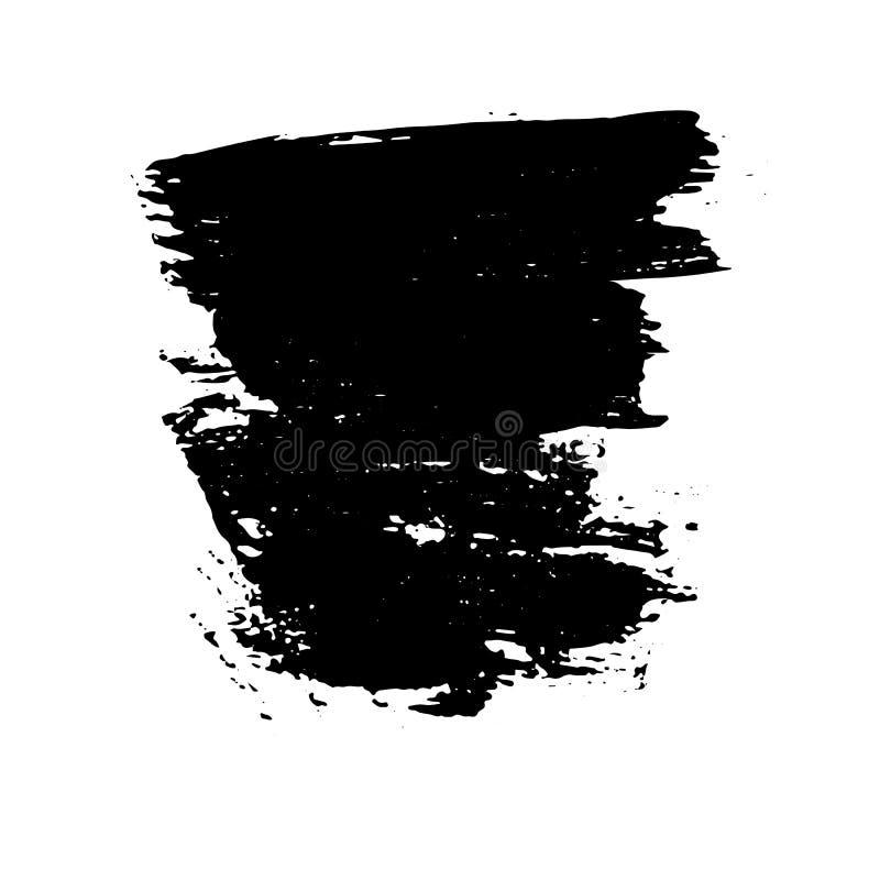 Slaglängd för borste för färgpulvervektor torr också vektor för coreldrawillustration Dragen vattenfärgtextur för Grunge hand Utr vektor illustrationer
