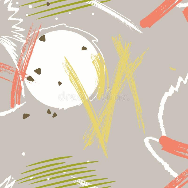 Slaglängd för målarfärgvektorborste Bakgrund för Grungevattenfärgfläck Idérik smutsig kommersiell form royaltyfri illustrationer