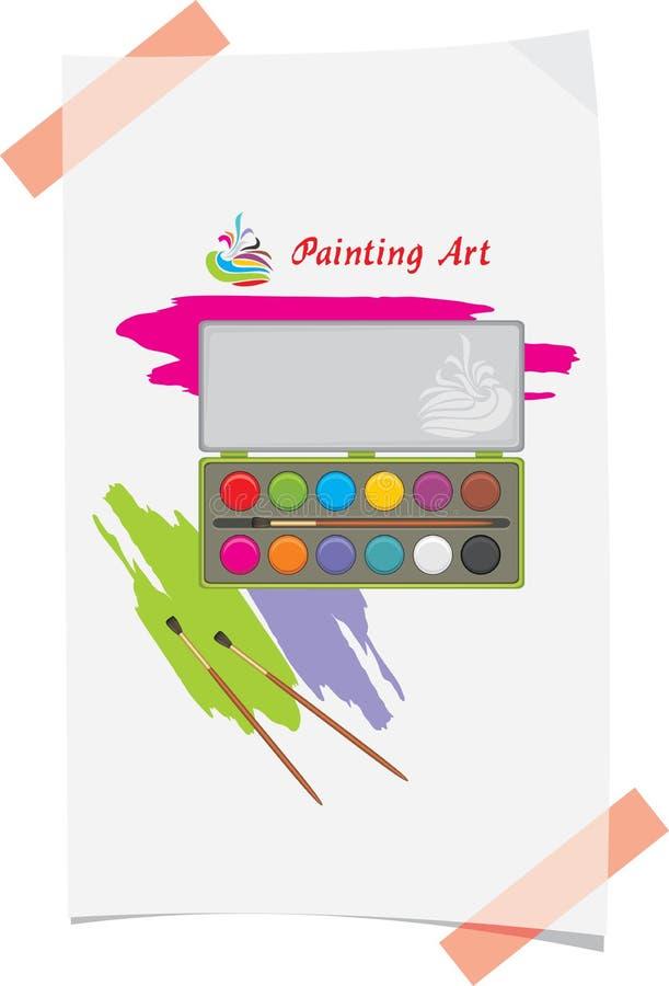 Slaglängder för vattenfärg och målarfärg stock illustrationer