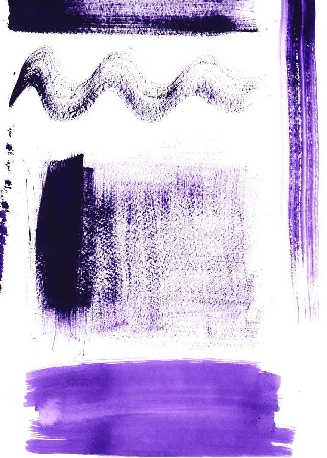 Slaglängder för vattenfärgabstrakt begreppborste på texturerat royaltyfria foton