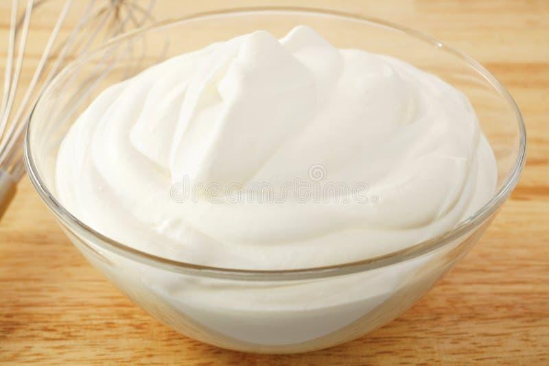 Slagroompr Yoghurt stock afbeeldingen