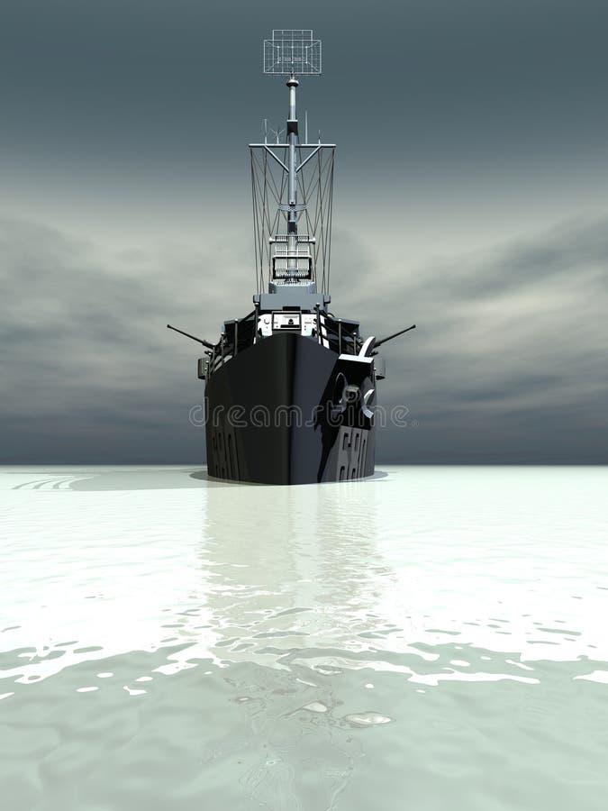 Slagschip vector illustratie