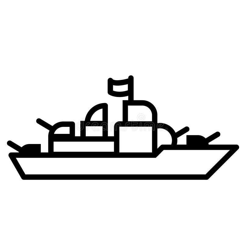 Slagschip vectoreps illustratie door crafteroks stock illustratie