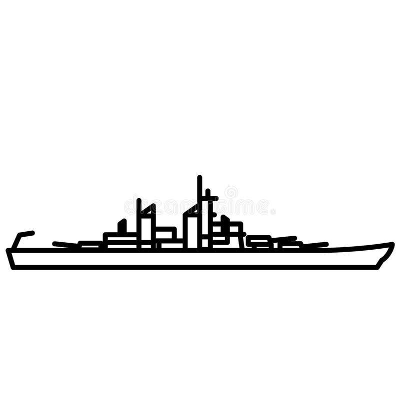 Slagschip vectoreps illustratie door crafteroks vector illustratie