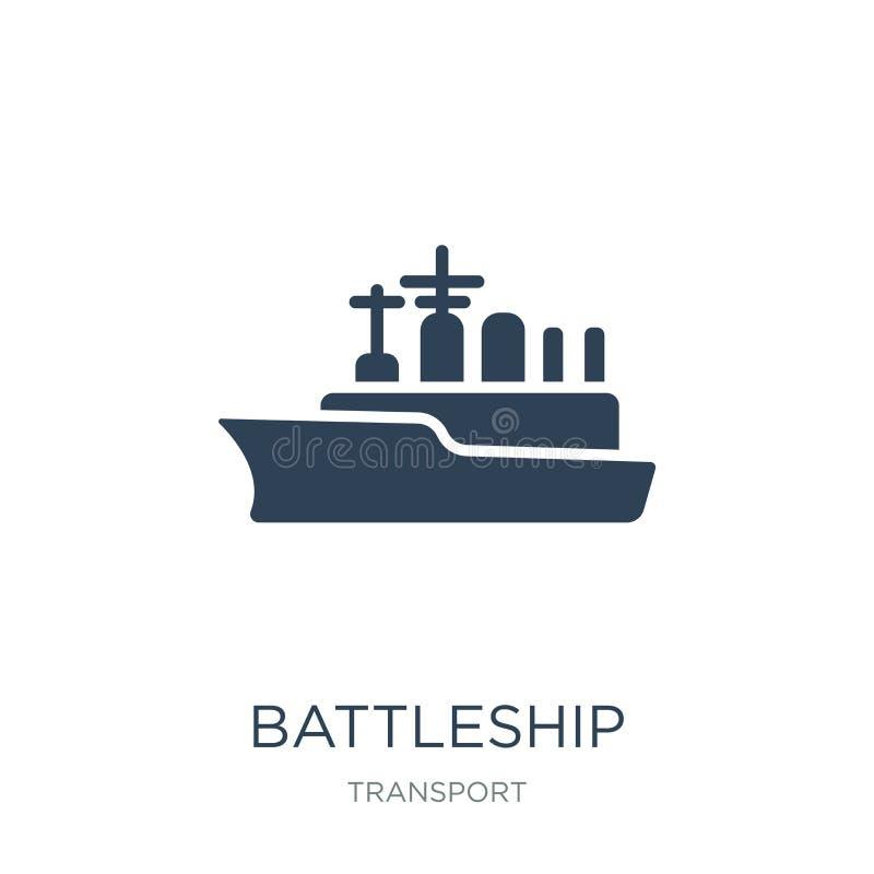 slagschippictogram in in ontwerpstijl slagschippictogram op witte achtergrond wordt geïsoleerd die eenvoudig en modern slagschip  royalty-vrije illustratie