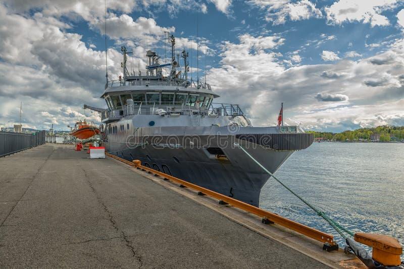 Slagskepp i Norge arkivbild