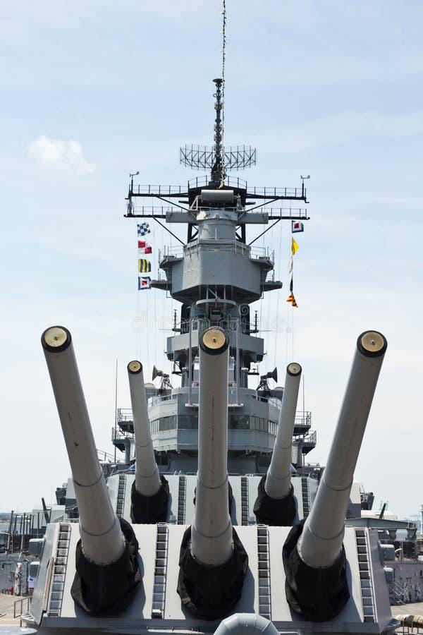 Slagskepp USS Wisconsin royaltyfria foton