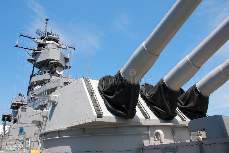 Slagskepp USS Wisconson royaltyfri fotografi