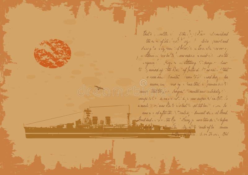 slagskeppeposberättelse stock illustrationer