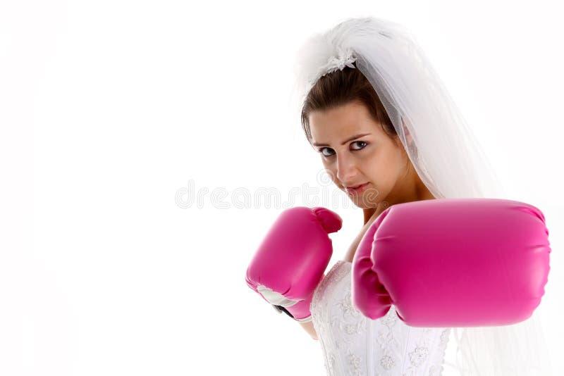 slagsmålbröllop arkivbild