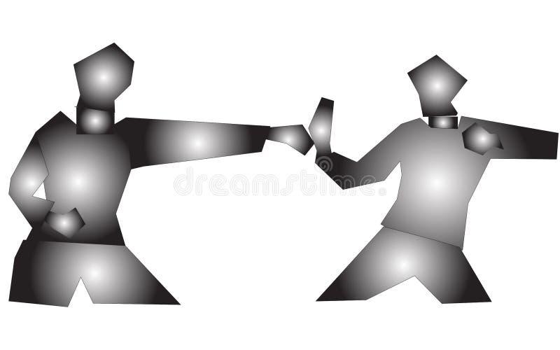 slagsmålillustration arkivbild