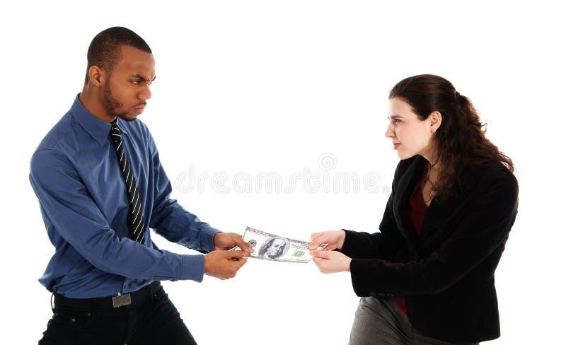 slagsmålpengar royaltyfria bilder