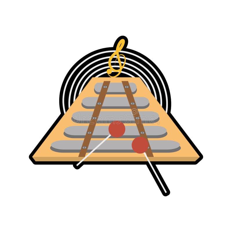 slagverk för tecknad filmxylofonmusikinstrument vektor illustrationer