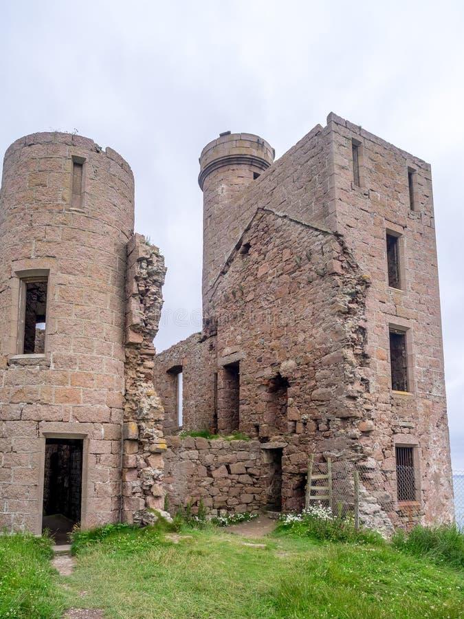 Slains kasztel, Szkocja obraz stock