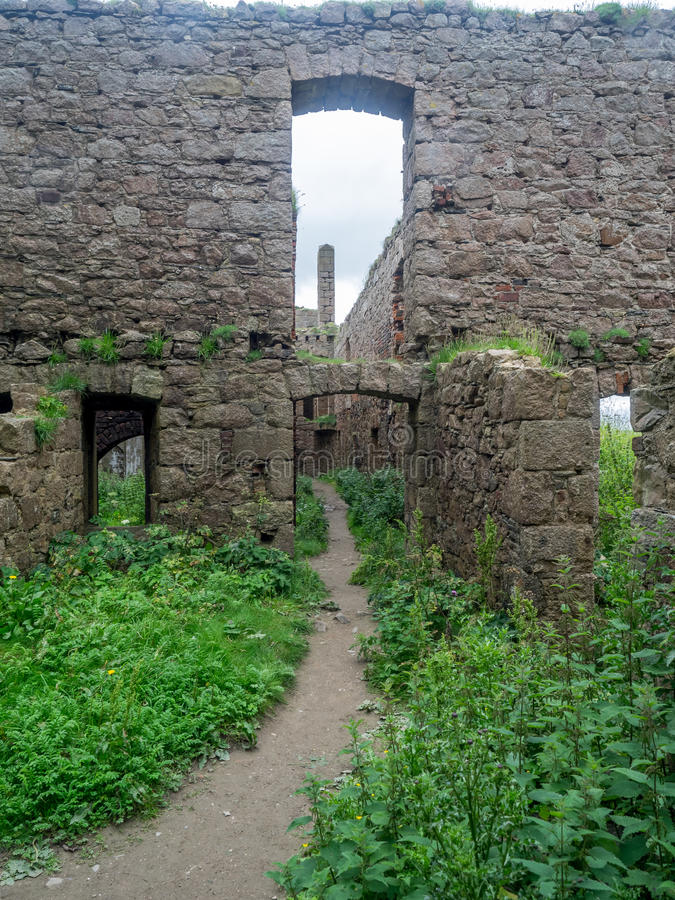 Slains slott, Skottland royaltyfri fotografi