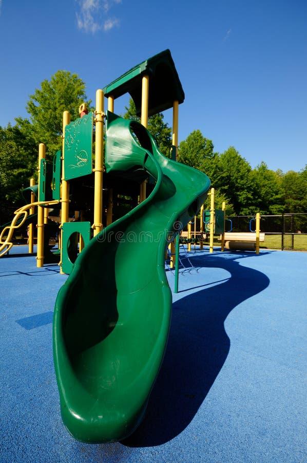 slajd uziemienia niebieskiej zielone zdjęcie stock
