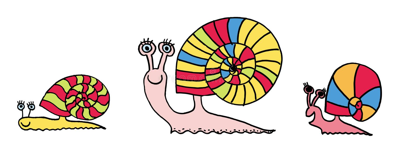 Slakken stock illustratie