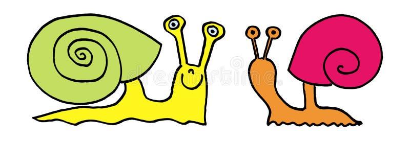Slakken royalty-vrije illustratie