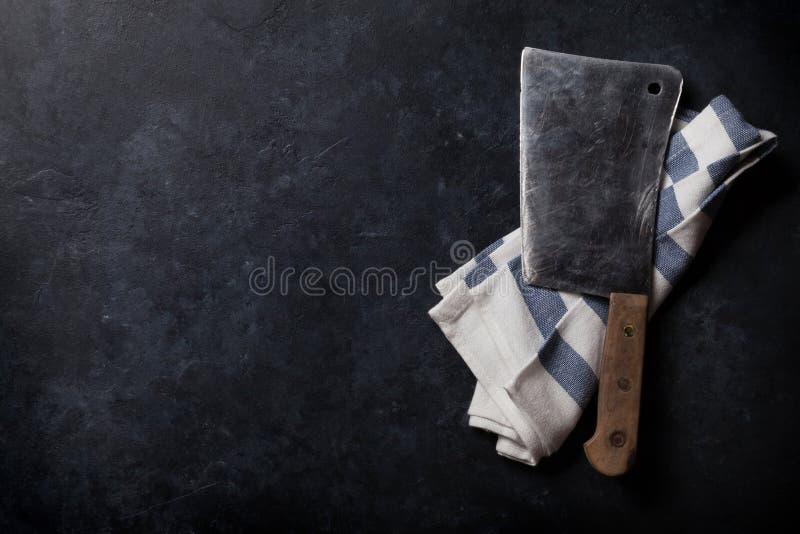 slaktare Tappningköttkniv arkivfoto