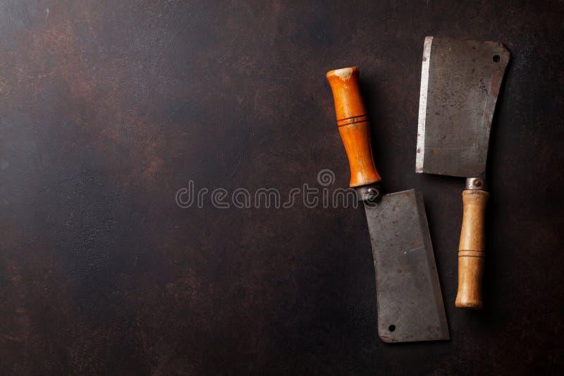 slaktare Tappningköttknivar royaltyfri foto
