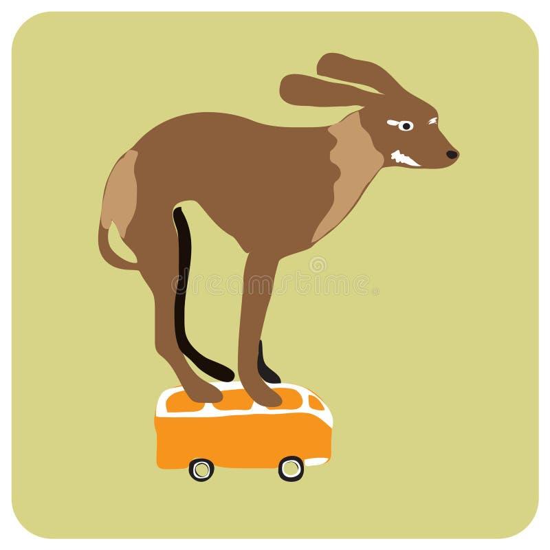 Slalom dog royalty free illustration