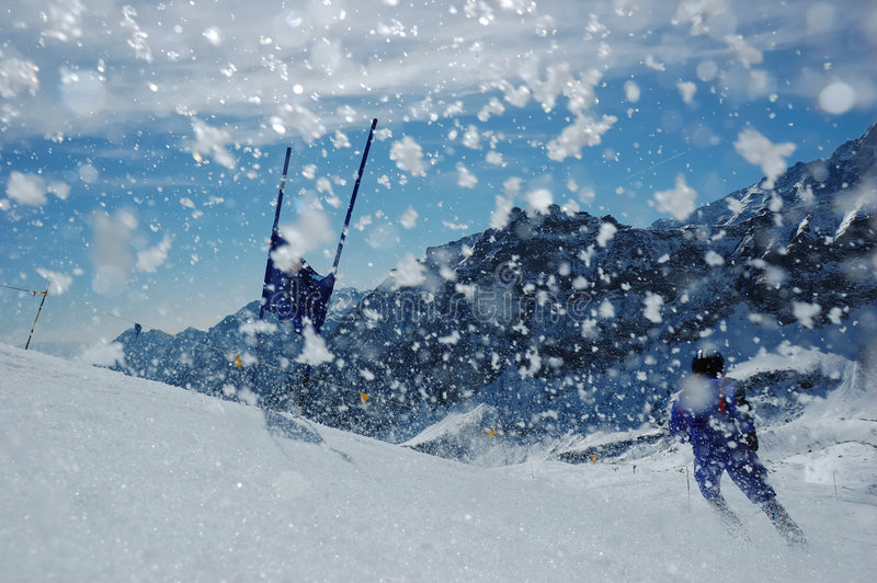 slalom narciarski wyścigu obrazy royalty free