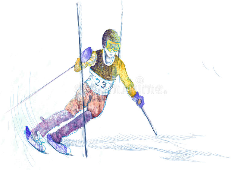 Download Slalom, Skier Stock Images - Image: 26913834