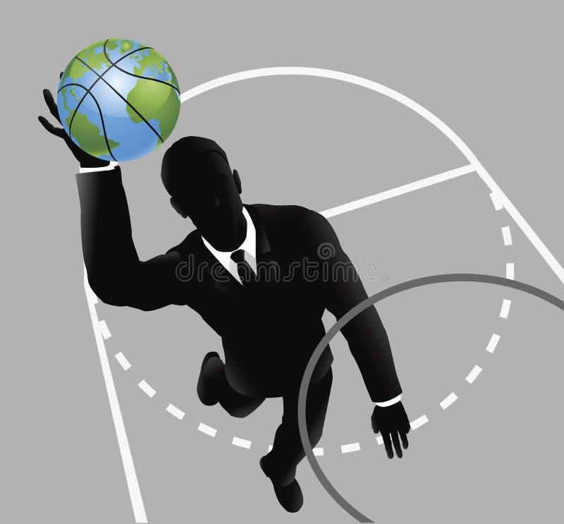 slam человека дела баскетбола dunking иллюстрация штока