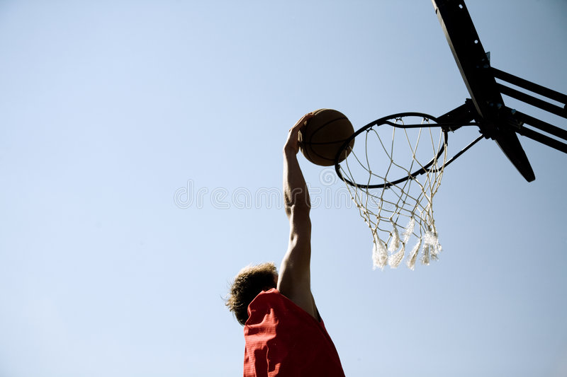 Slam-dunk royalty free stock photo