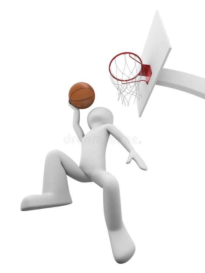 Slamdunk 1 do basquetebol ilustração royalty free