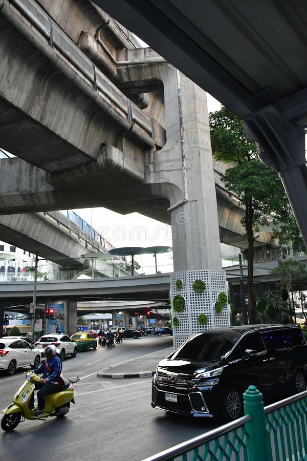 Slamsy i ubóstwo w ulicach Bangkok obrazy royalty free