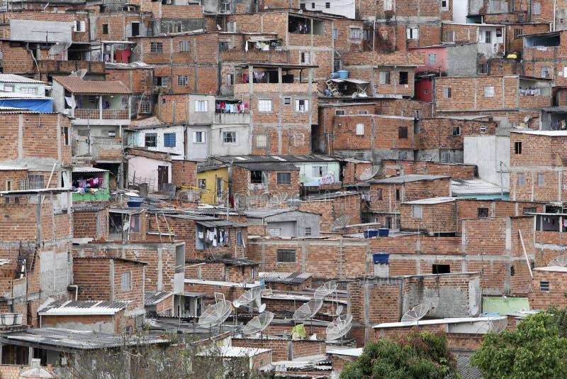 Slamsy, sąsiedztwo sao Paulo, Brazil zdjęcia royalty free